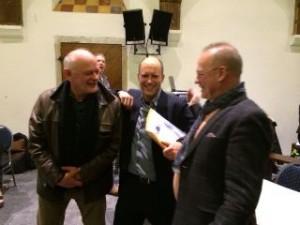 Frans Heitling en Jasper Bloem met Frans Manders